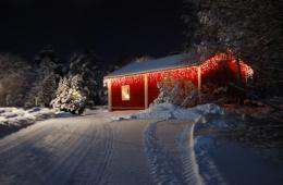 Wo es Weihnachten am schönsten ist: Winterhütte in Finnland
