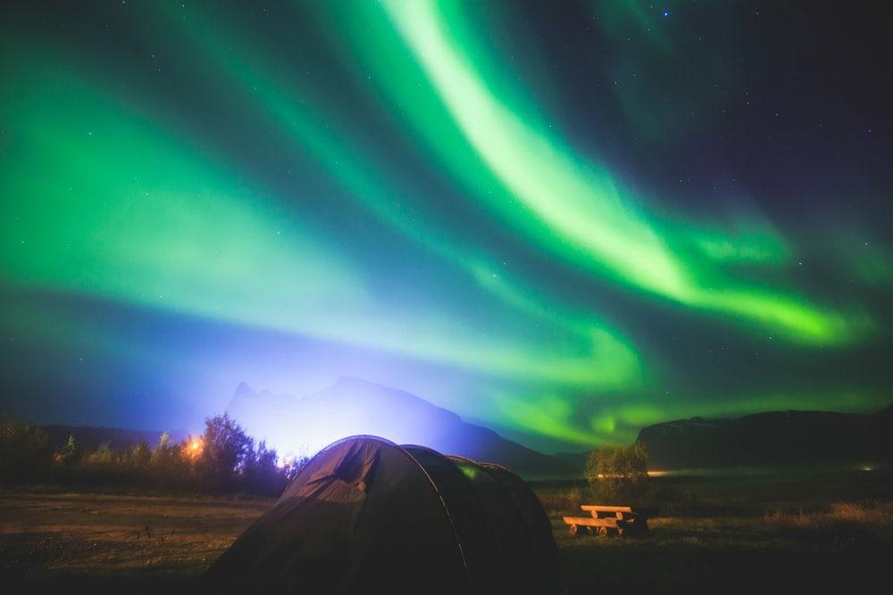 Polarlicht in der Finnmark in Norwegen
