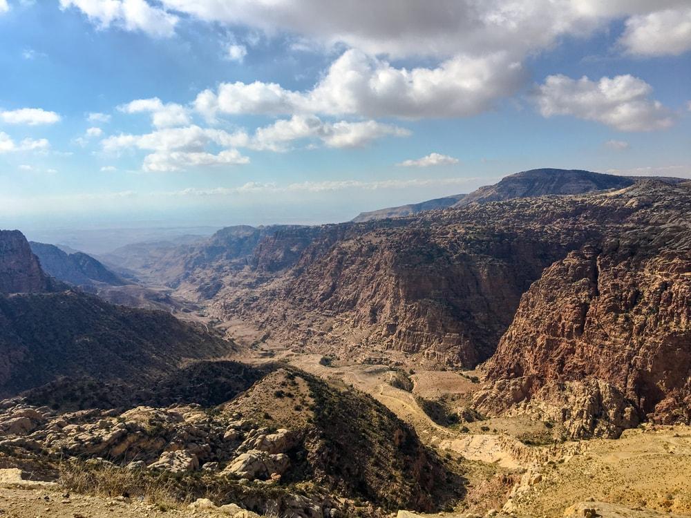 Blick auf Naturreservat Dana in Jordanien