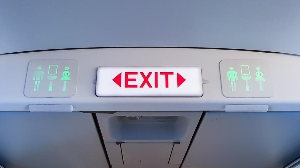 Benehmen an Bord: Gang zur Toilette