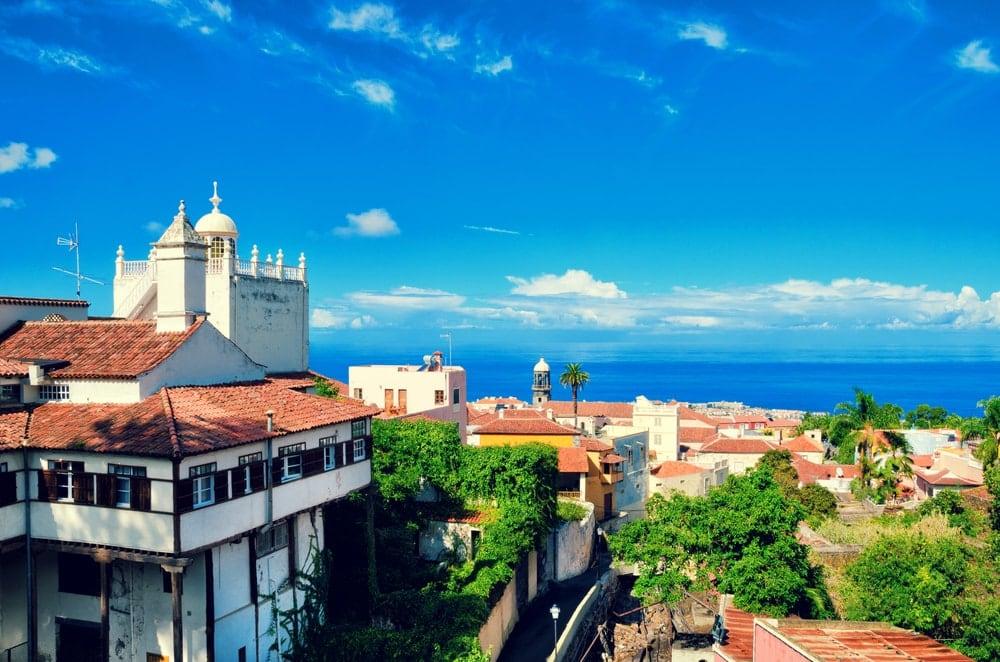 Blick auf die Altstadt von La Orotava auf Teneriffa