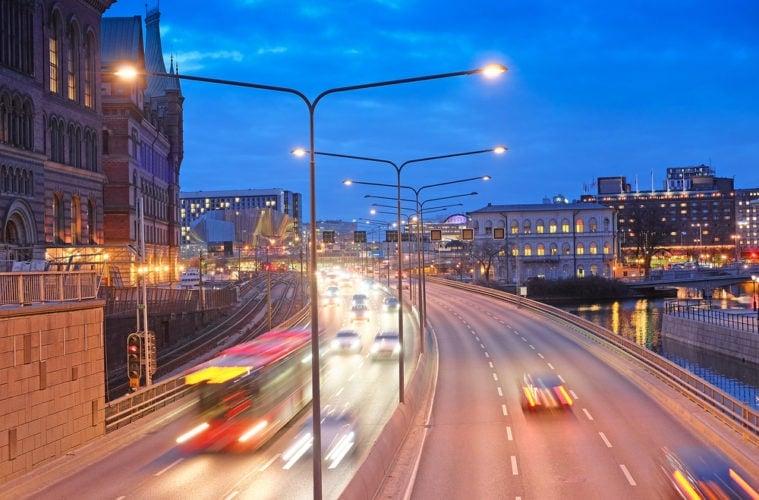 Citymaut: Straße in Stockholm