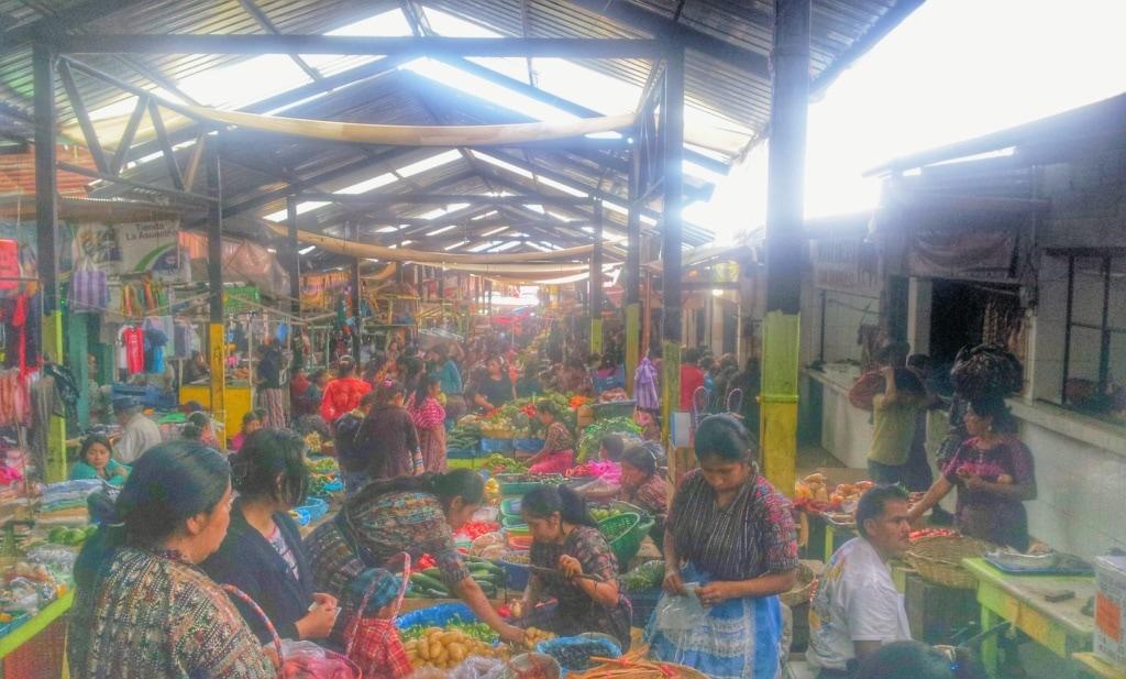 Markt in Solala am Atitlan See in Guatemala