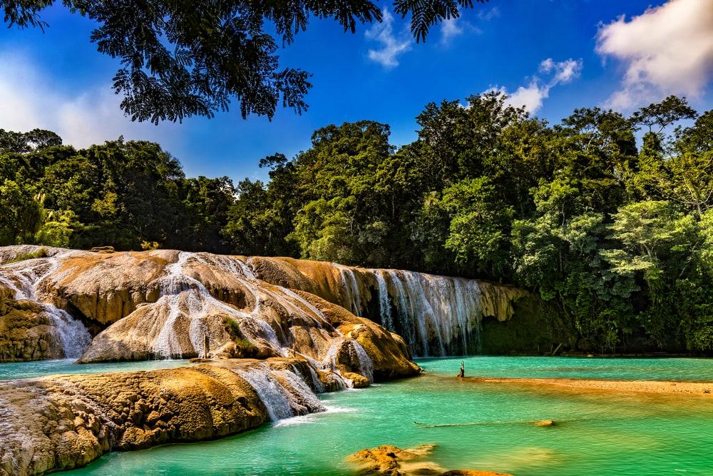 Wasserfall Aqua Azul bei Palenque