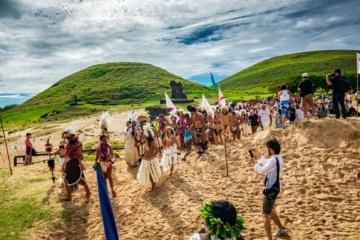 Indigene Volksgruppe auf Osterinsel in Chile