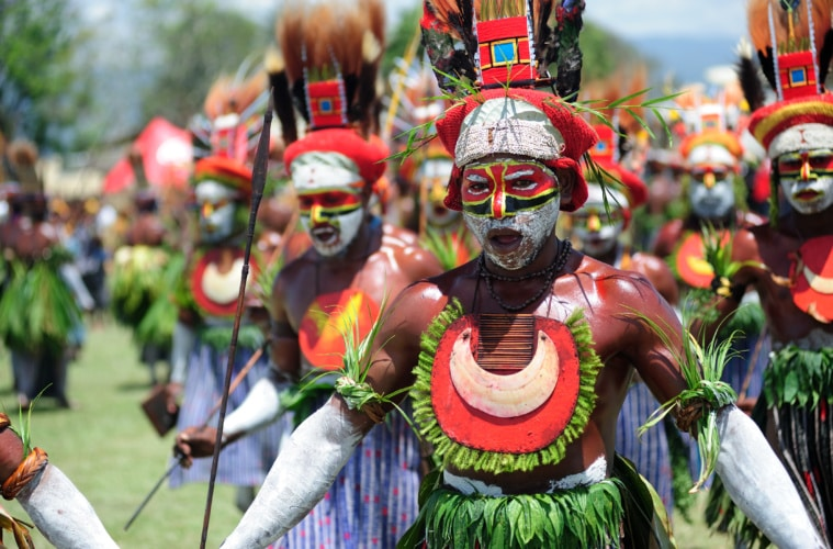 Aboriginal at Goroka Tribal Festival in Papa-Neuguinea