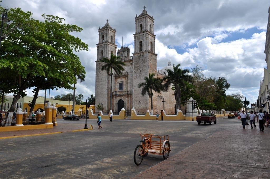 Blick auf die Kathedrale in Merida, Mexiko