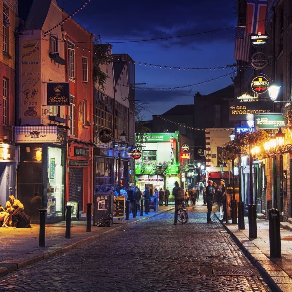 Sehenswürdigkeiten in Dublin: Temple Bar Quarter