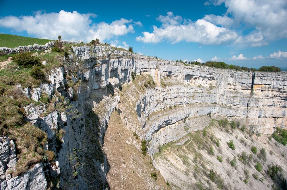 Wandern im Jura: Creux du van Ampitheater