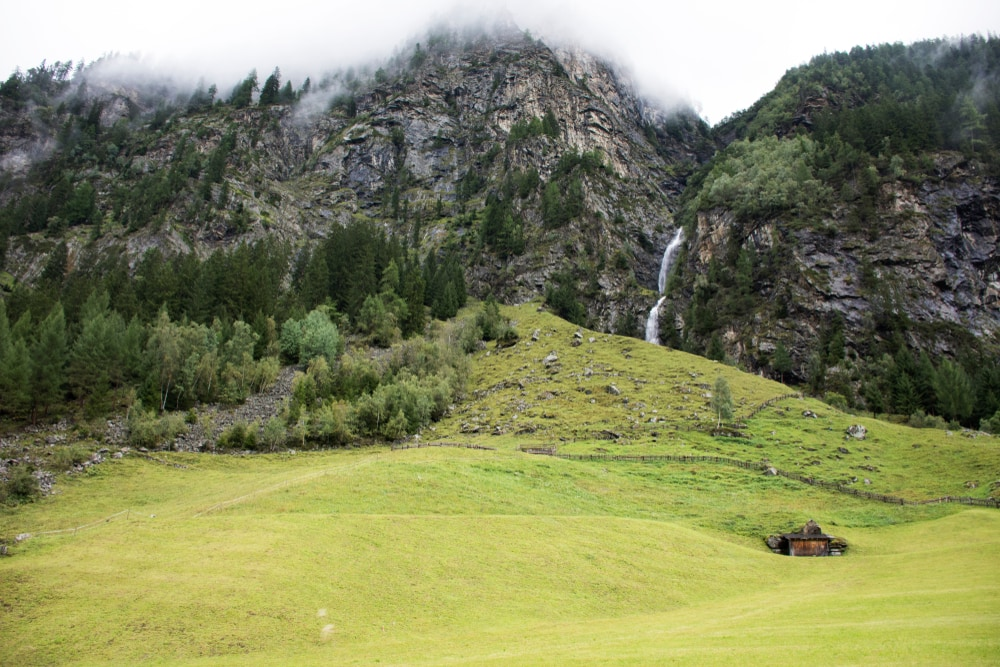 Wasserfall im Kaunergrat Naturpark in Tirol