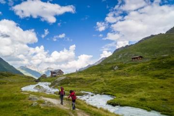 Schöne Berghütten in den Alpen