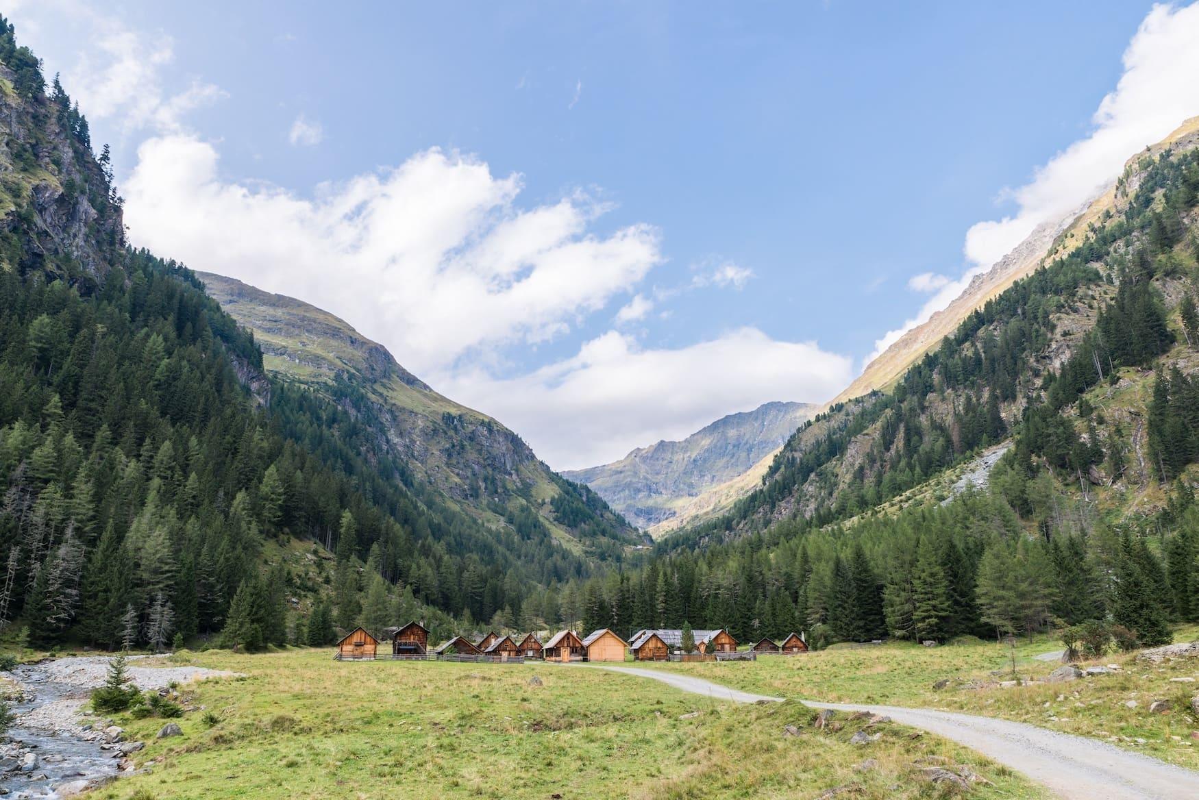 Berghütte in den Alpen im Göriachtal
