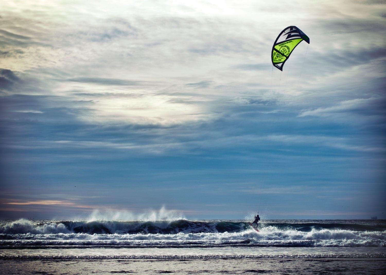 Kitesurfer am Ellebogen