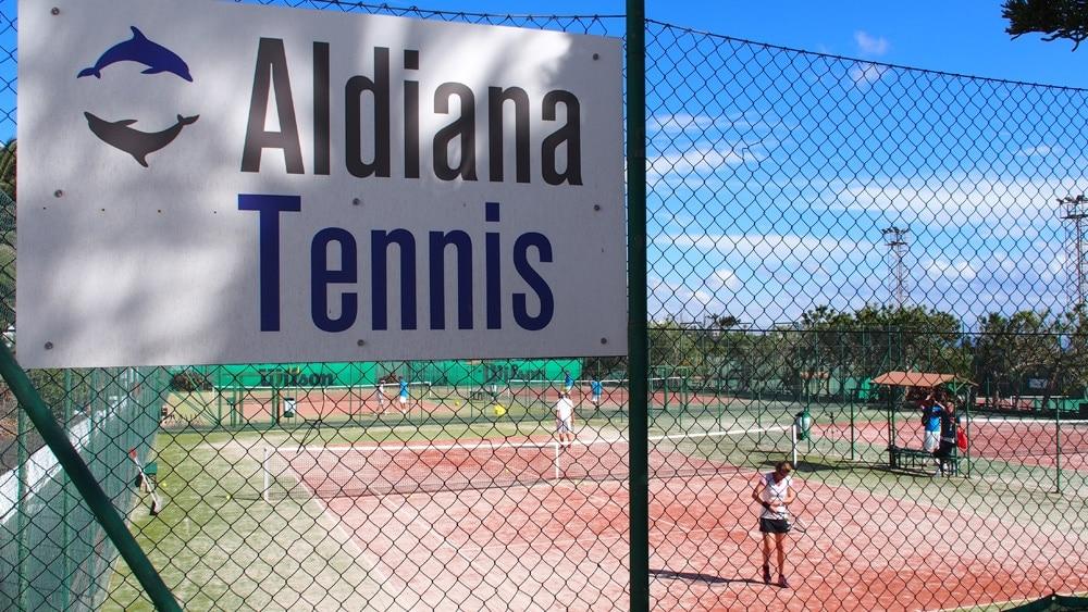 Tenniscamp im Club Aldiana auf Fuerteventura, Eingang zu den Plätzen