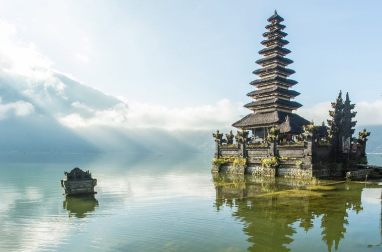 Bali: Blick auf den Batur See