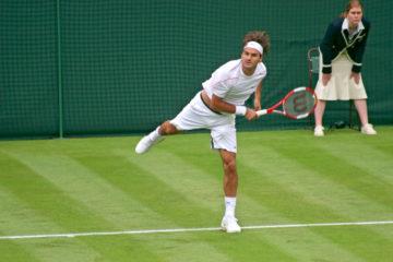 Roger Federer beim Wimbledon Turnier.