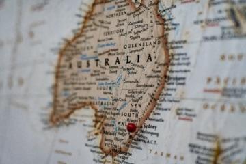 Landscharte Australien