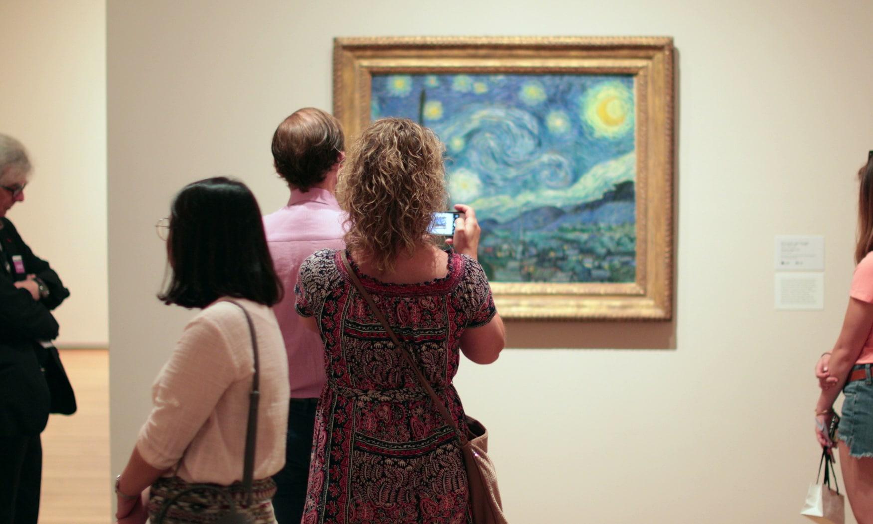 Sternennacht von Vincent van Gogh im MOMA, Kunst