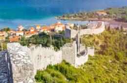 Ston in Dalmatien, Kroatien
