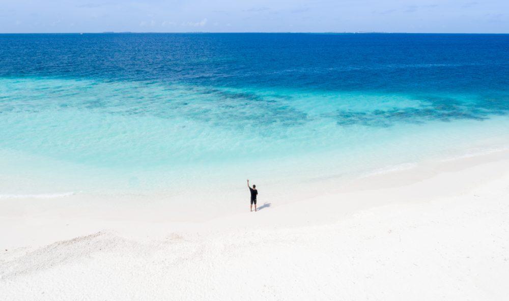 Allein im Paradies auf den Malediven