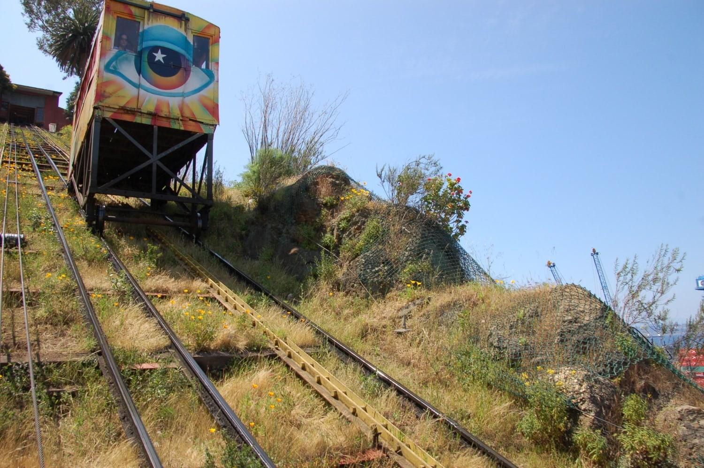 Berühmter Aufzug in der chilenischen Stadt Valparaiso