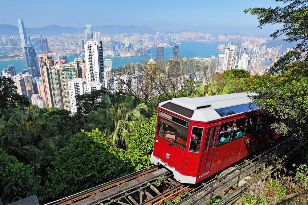 Tipps für Hongkong: Fahrt mit der Bahn auf den Peak in Hongkong