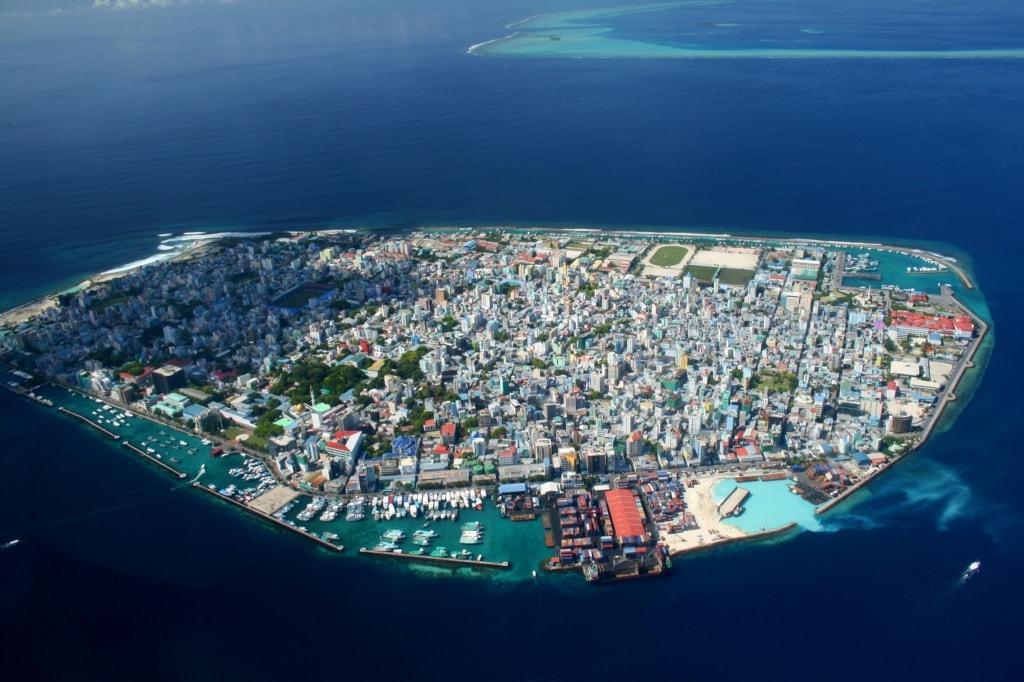 Die Hauptinsel Male der Malediven ist ein Shoppingparadies.