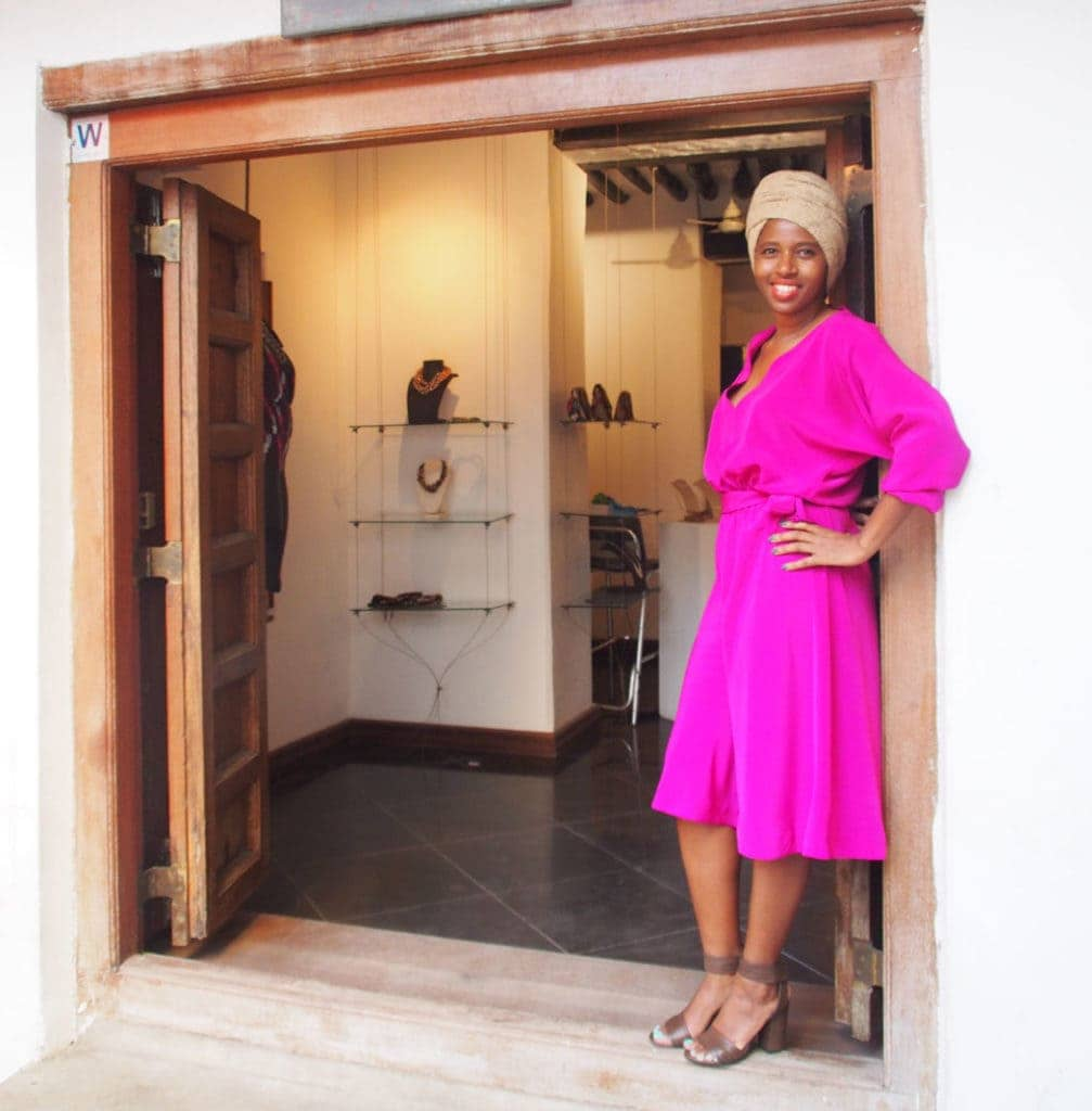 Boutique von Designerin Doreen Mashika in Stone Town: Shop by the locals, Sansibar