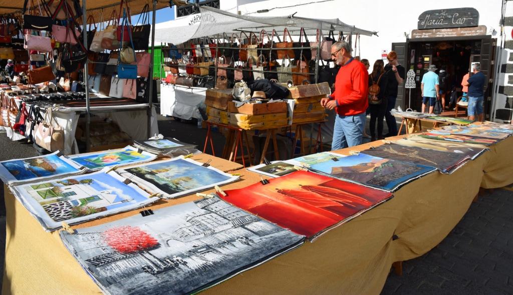 Shopping auf den Kanaren: Markt von Teguise