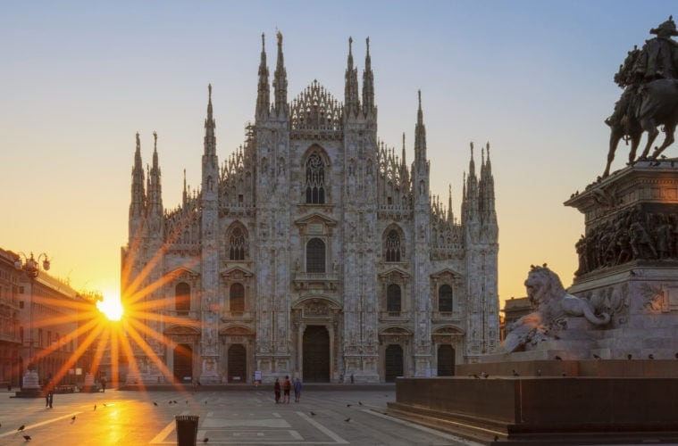 Blick auf Milan Cathedral in Mailand