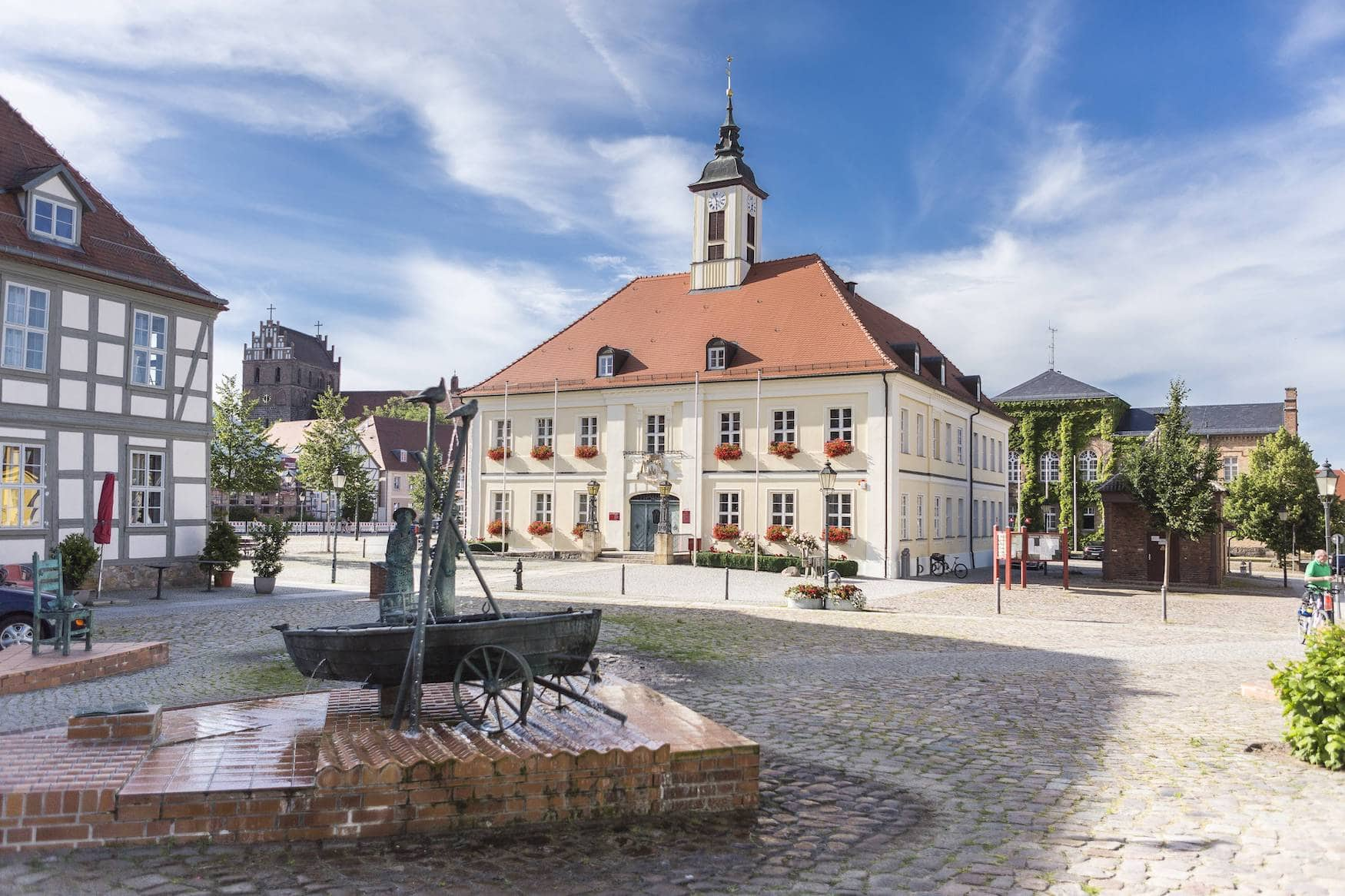 Rathaus in Angermünde in der Uckermark