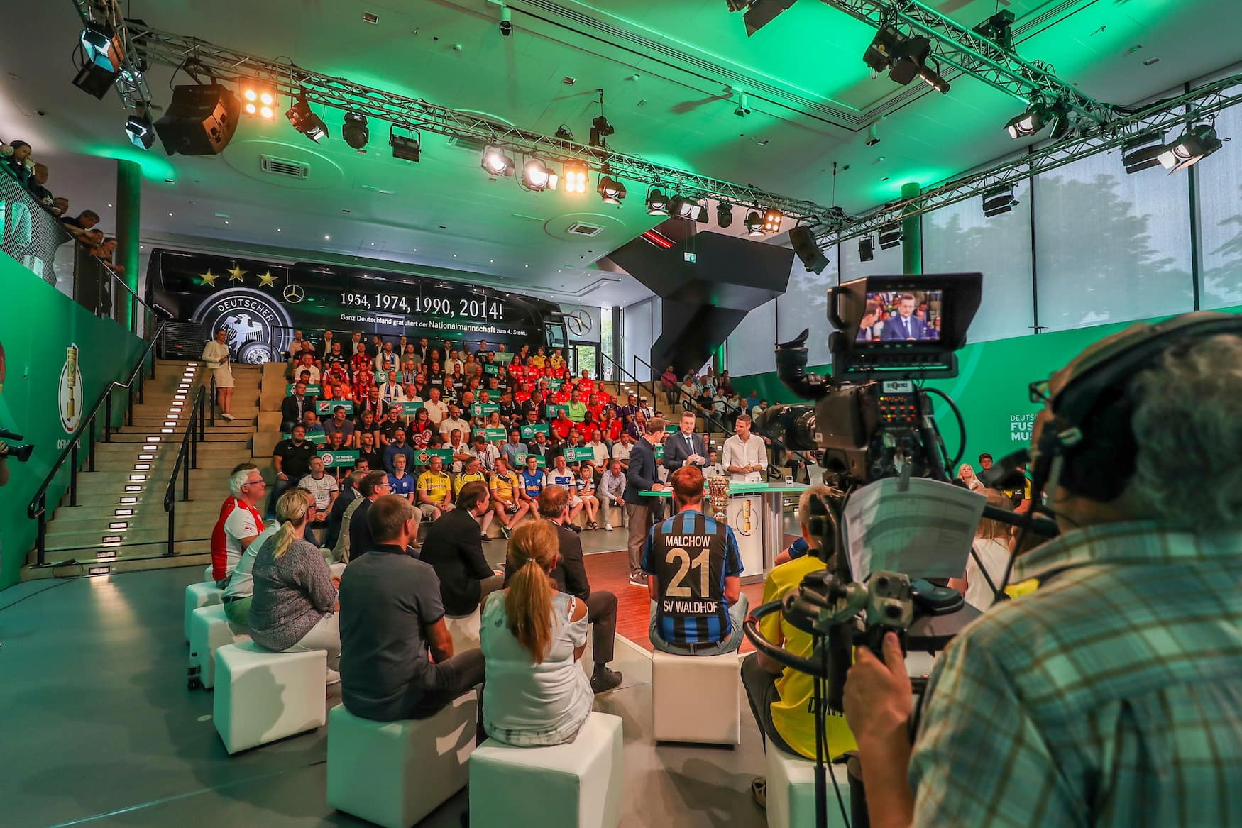 Auslosung des DFB-Pokals im Deutschen Fußballmuseum