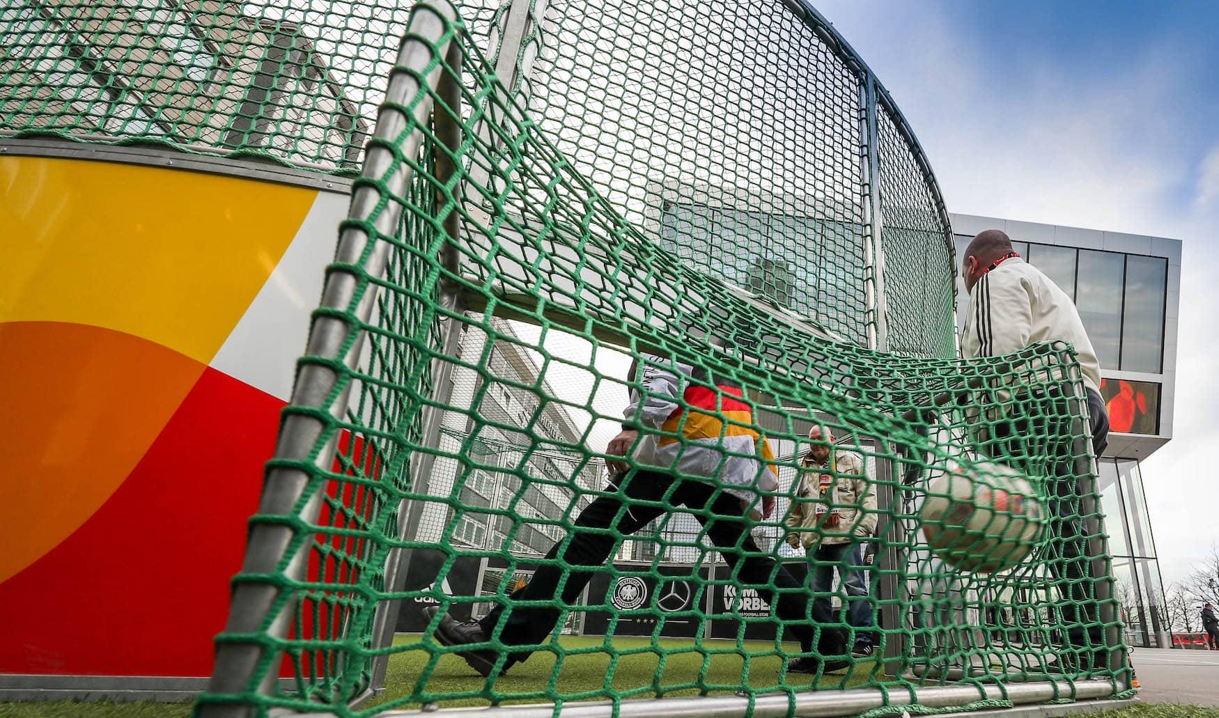 Spielfeld in Fußballmuseum