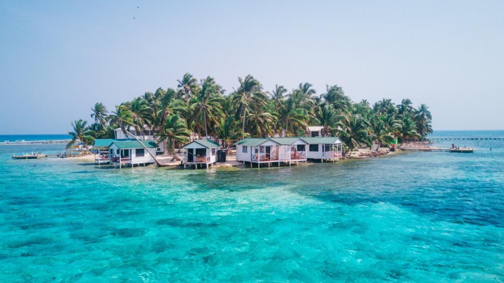 Kleine Insel vor der Küste von Belize