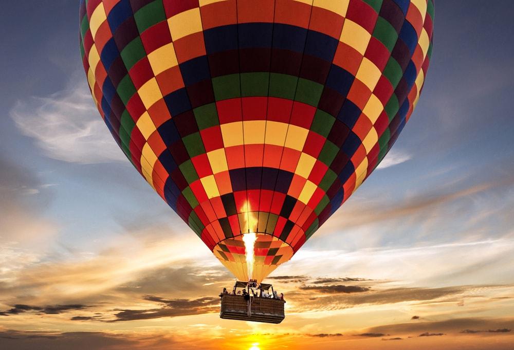 Action in Kroatien: Fahrt mit dem Heißluftballoon