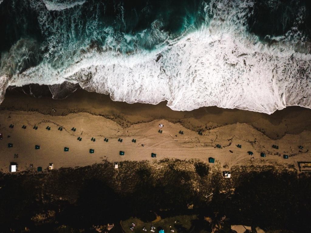 Strand in Palm Beach aus der Vogelperspektive
