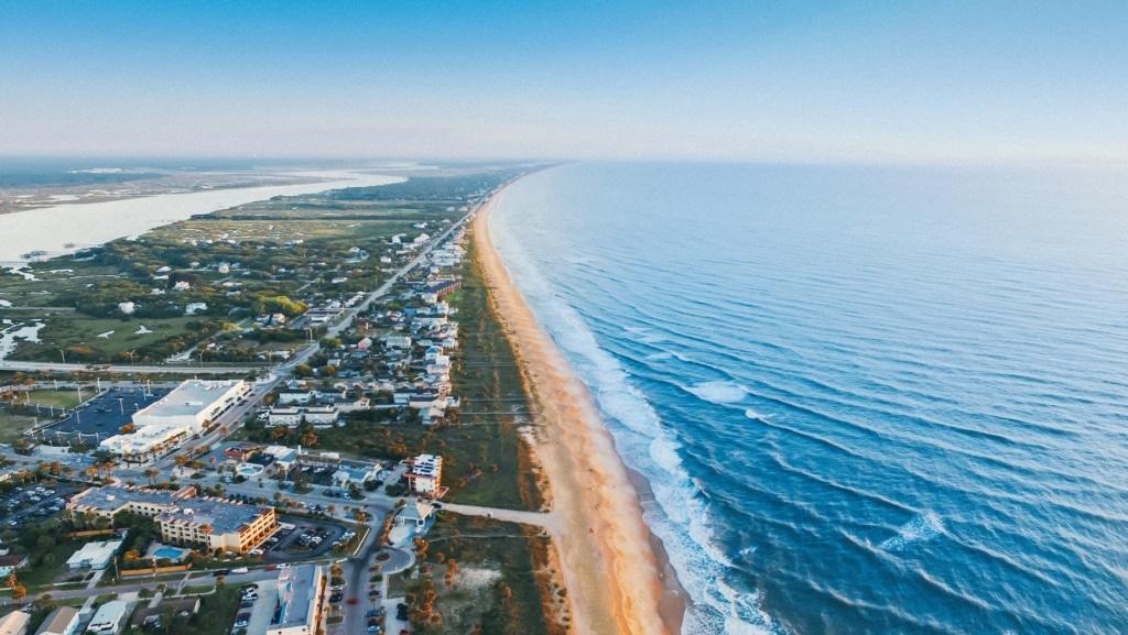 Strand von St. Augustine in Florida