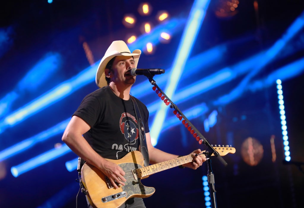 Brad Paisley performs at Nissan Stadium on Sunday, June 11 during the 2017 CMA Music Festival in downtown Nashville.