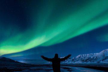 Wundervoll diese Nordlichter auf Spitzbergen