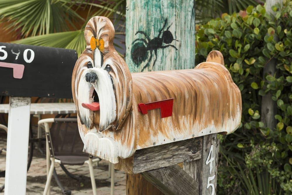 Verspielter Briefkasten auf Matlacha Island in Florida
