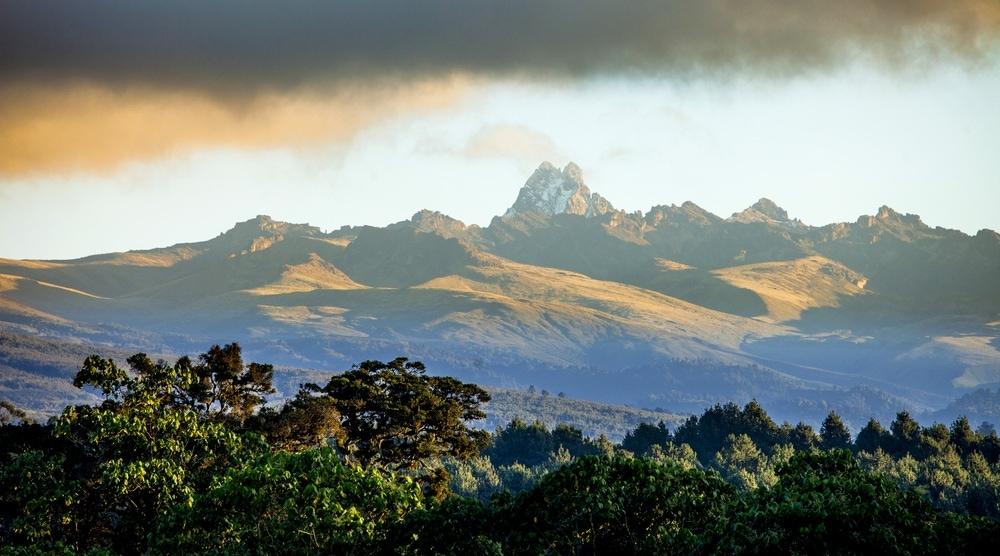 Blick auf den Mount Kenya