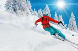 Wintersport fernab der Alpen: Skifahrer