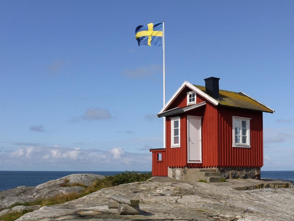 Holzhütte in Schweden