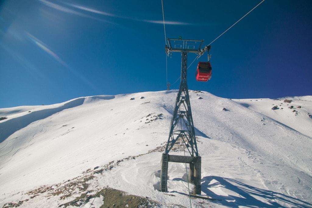 Skigebiet Gulmarg in Indien