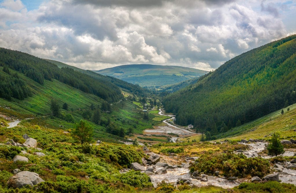 Glendalough Valley in Irland