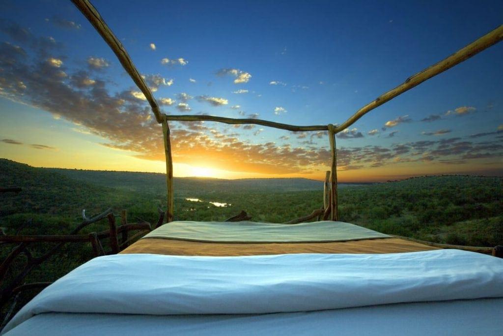 In den Starbeds des Loisaba Conservancy schläft man unter freien Sternenhimmel.