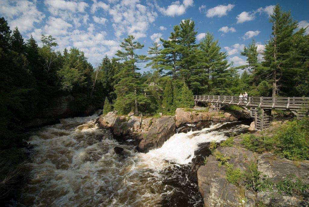 Landschaft rund um das La Baluchon in Quebec