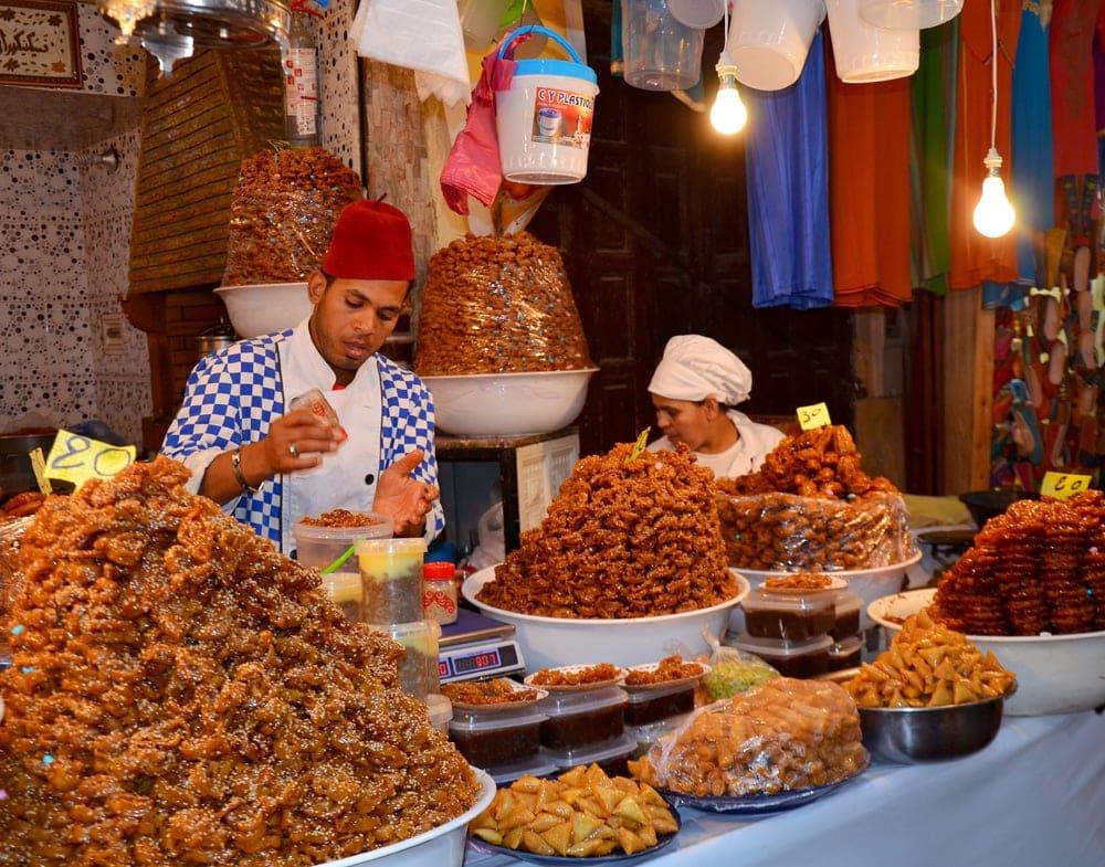 Süßigkeiten-Stand in Fes