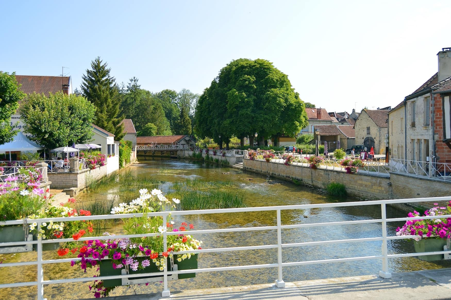 Fluss in Essoyes im Pays d'Othe