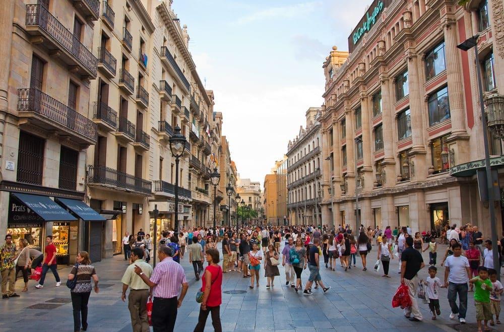 Einkaufsstraße in Barcelona